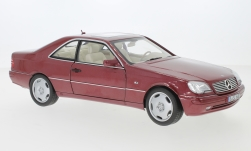 Modellauto - <strong>Mercedes</strong> CL 600 (C140), metallic-rot, 1996<br /><br />I-Norev, 1:18<br />Nr. 240391