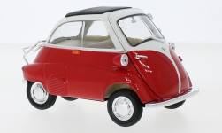 Modelo de coche - <strong>BMW</strong> Isetta 250, rojo/blanco<br /><br />Welly, 1:18<br />Nº 240612