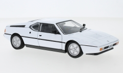 voiture miniature - <strong>BMW</strong> M1, blanche, 1978<br /><br />Welly, 1:24<br />N° 240615