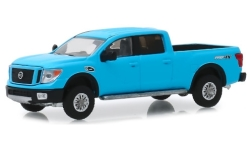 Modelcar - <strong>Nissan</strong> Titan XD Pro-4X, light blue, 2018<br /><br />Greenlight, 1:64<br />No. 240816