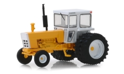 Modelcar - <strong>-</strong> tractor with cabin, yellow/white, 1974<br /><br />Greenlight, 1:64<br />No. 240820