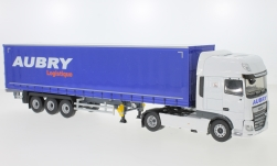 Modelcar - <strong>DAF</strong> XF MY Superspace Cab, Transports Aubry, curtain side-trailer truck, 2017<br /><br />Eligor, 1:43<br />No. 241019