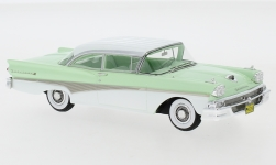 voiture miniature - <strong>Ford</strong> Fairlane 500 Hardtop, turquoise clair/blanche, 1958<br /><br />Neo, 1:43<br />N° 241030