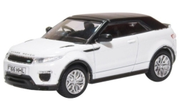 Modellino - <strong>Land Rover</strong> Range Rover Evoque convertibile, bianco, RHD<br /><br />Oxford, 1:76<br />n. 241057