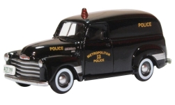 Modelo de coche - <strong>Chevrolet</strong> Panel Van, Washington DC Policia, 1950<br /><br />Oxford, 1:87<br />Nº 241084