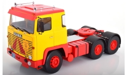 Modelcar - <strong>Scania</strong> LBT 141, yellow/red, 1976<br /><br />Road Kings, 1:18<br />No. 241257