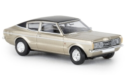 Modelcar - <strong>Ford</strong> Taunus Coupe GXL, gold/black, 1972<br /><br />Brekina, 1:87<br />No. 241379