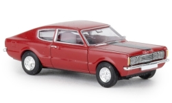 Modelcar - <strong>Ford</strong> Taunus Coupe GT, red, hood black, 1972<br /><br />Brekina, 1:87<br />No. 241380