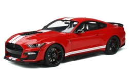 voiture miniature - <strong>Ford</strong> Shelby GT500, rouge/blanche, 2020<br /><br />GT Spirit, 1:12<br />N° 241467