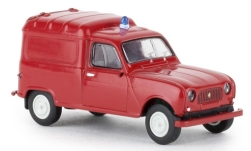 Modellauto - <strong>Renault</strong> R4 Fourgonnette, Feuerwehr, 1961<br /><br />Brekina, 1:87<br />Nr. 241507