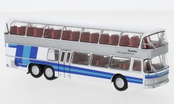 Modelcar - <strong>Neoplan</strong> NH 22 double decker, silver/blue, 1967<br /><br />Brekina Starline, 1:87<br />No. 241747