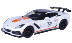 ModelCar - <strong>Chevrolet</strong> Corvette ZR1, weiss,  Gulf, 2019<br /><br />Motormax, 1:24<br />No. 242008