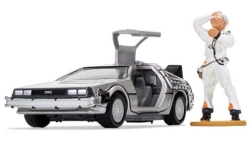 Modelcar - <strong>DeLorean</strong> DMC-12, with Doc Brown-figure, Back To The future (Zurück in die Zukunft)<br /><br />Corgi, 1:36<br />No. 242015