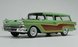 Modelcar - <strong>Ford</strong> Country Squire, light green/wood optics, 1958<br /><br />Goldvarg Collections, 1:43<br />No. 242181