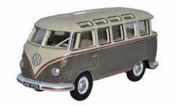 Modellauto - <strong>VW</strong> T1 Samba Bus, beige/grau<br /><br />Oxford, 1:76<br />Nr. 242381