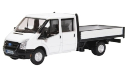 ModelCar - <strong>Ford</strong> Transit Double Cab Pickup, weiss, RHD<br /><br />Oxford, 1:76<br />番号 242397