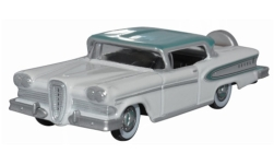 Modelcar - <strong>Edsel</strong> Citation, white/turquoise, 1958<br /><br />Oxford, 1:87<br />No. 242423