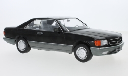 Modellino - <strong>Mercedes</strong> 560 SEC (C126), nero, 1985<br /><br />KK Scale, 1:18<br />n. 242560