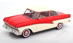 Modellauto - <strong>Ford</strong> Taunus 17M (P2), rot/weiss, 1957<br /><br />KK Scale, 1:18<br />Nr. 242563