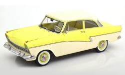 Modellauto - <strong>Ford</strong> Taunus 17M (P2), hellgelb/weiss, 1957<br /><br />KK Scale, 1:18<br />Nr. 242565
