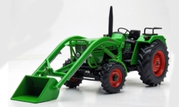 Modelcar - <strong>Deutz</strong> D 52 06 A, green, with front loader<br /><br />weise-toys, 1:32<br />No. 242583