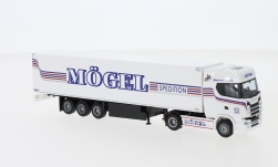 ModelCar - <strong>Scania</strong> S / Aerop., Spedition Mögel, Kühlkoffersattelzug<br /><br />AWM, 1:87<br />No. 242767
