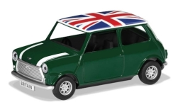 Modellauto - <strong>Mini</strong> Cooper, grün/weiss, RHD, Union Jack, Best of British<br /><br />Corgi, 1:36<br />Nr. 243124