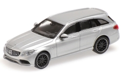 Modellauto - <strong>Mercedes</strong> AMG C63 T-Model (S205), zilver, 2019<br /><br />Minichamps, 1:87<br />Nr. 243149