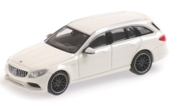 Modellauto - <strong>Mercedes</strong> AMG C63 T-Model (S205), wit, 2019<br /><br />Minichamps, 1:87<br />Nr. 243151