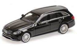 Modellauto - <strong>Mercedes</strong> AMG C63 T-Model (S205), metallic-zwart, 2019<br /><br />Minichamps, 1:87<br />Nr. 243152