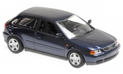 Modellauto - <strong>Audi</strong> A3 (8L), metallic-dunkelblau, 1996<br /><br />Maxichamps, 1:43<br />Nr. 243208