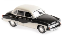 Modellauto - <strong>Wartburg</strong> 311, schwarz/weiss, 1959<br /><br />Maxichamps, 1:43<br />Nr. 243286