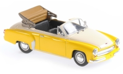 Modellauto - <strong>Wartburg</strong> 311 Cabriolet, gelb/weiss, 1958<br /><br />Maxichamps, 1:43<br />Nr. 243287