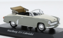Modellauto - <strong>Wartburg</strong> 311 Cabriolet, grau/weiss, 1958<br /><br />Maxichamps, 1:43<br />Nr. 243288