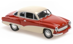 Modellauto - <strong>Wartburg</strong> 311 Coupe, rot/weiss, 1958<br /><br />Maxichamps, 1:43<br />Nr. 243289