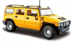 Modellauto - <strong>Hummer</strong> H2 Station Wagon, gelb, 1:27, 2003<br /><br />Maisto, 1:24<br />Nr. 243356