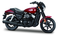 Modellauto - <strong>Harley Davidson</strong> Street 750, dunkelrot, 2015<br /><br />Maisto, 1:18<br />Nr. 243431
