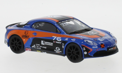 ModelCar - <strong>Alpine</strong> A110 Cup, metallic-blau/orange, No.76, P.Sancinena, 2020<br /><br />Bburago, 1:43<br />No. 243528