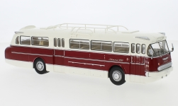 Modellauto - <strong>Ikarus</strong> 66, weiss/dunkelrot, 1972<br /><br />IXO, 1:43<br />Nr. 243809