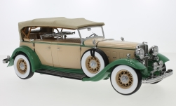 Modellino - <strong>Ford</strong> Lincoln KB, beige/verde, chiuso capote, 1932<br /><br />Sun Star, 1:18<br />n. 243832