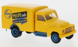 Modellauto - <strong>Hanomag</strong> L 28 Koffer, Philips (SE), 1950<br /><br />Brekina, 1:87<br />Nr. 243900