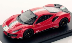 Modellauto - <strong>Ferrari</strong> 488 Pista Piloti, rood/Decor<br /><br />Look Smart, 1:43<br />Nr. 243907