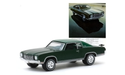 Modelcar - <strong>Chevrolet</strong> Monte Carlo, metallic-dark green/matt-green, 1970<br /><br />Greenlight, 1:64<br />No. 243990