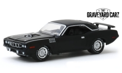 Modelcar - <strong>Plymouth</strong> Cuda 340, mattblack, Graveyard Carz, Gone in 60 Seconds, 1971<br /><br />Greenlight, 1:64<br />No. 244004