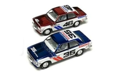 Modelcar - <strong>Datsun</strong> 2er-Set: BRE 510, Simoniz, No.46 + No.35, Limited Chrome Edition, 1971<br /><br />Greenlight, 1:64<br />No. 244011