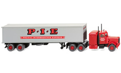 Modellauto - <strong>Peterbilt</strong> 359, Pacific Intermountain Express, Containersattelzug<br /><br />Wiking, 1:87<br />Nr. 244785