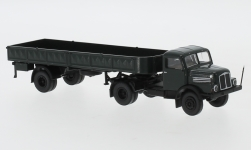 Modellauto - <strong>IFA</strong> S 4000-1, donkergroen/zwart, Flatbed-SZ, 1960<br /><br />Brekina, 1:87<br />Nr. 244965
