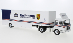 Modellauto - <strong>MAN</strong> 19.320, Rothmans-Porsche, Race Transport<br /><br />IXO, 1:43<br />Nr. 245110