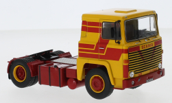 Modelcar - <strong>Scania</strong> LBT 141, yellow/red, 1976<br /><br />IXO, 1:43<br />No. 245192