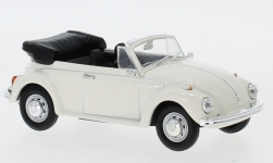 voiture miniature - <strong>VW</strong> Coléoptère cabriolet, blanche, Verdeck ouvert, 1972<br /><br />Lucky Die Cast, 1:43<br />N° 245287